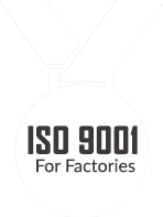 ISO 9001 and 14001 for factory