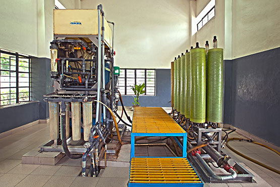 treatment plant with a capacity of 100,000 litres