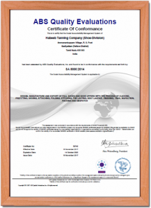 certificate for conformance - habeeb tanning company (shoe-division)